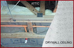 Attic and Drywall Ceiling